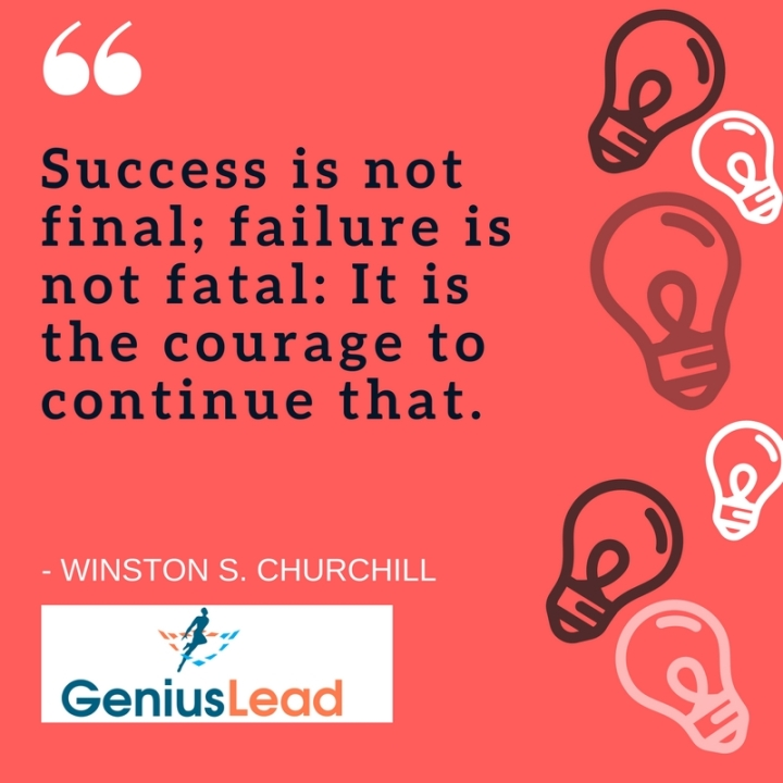 Keep going! Success Quote from Churchill
